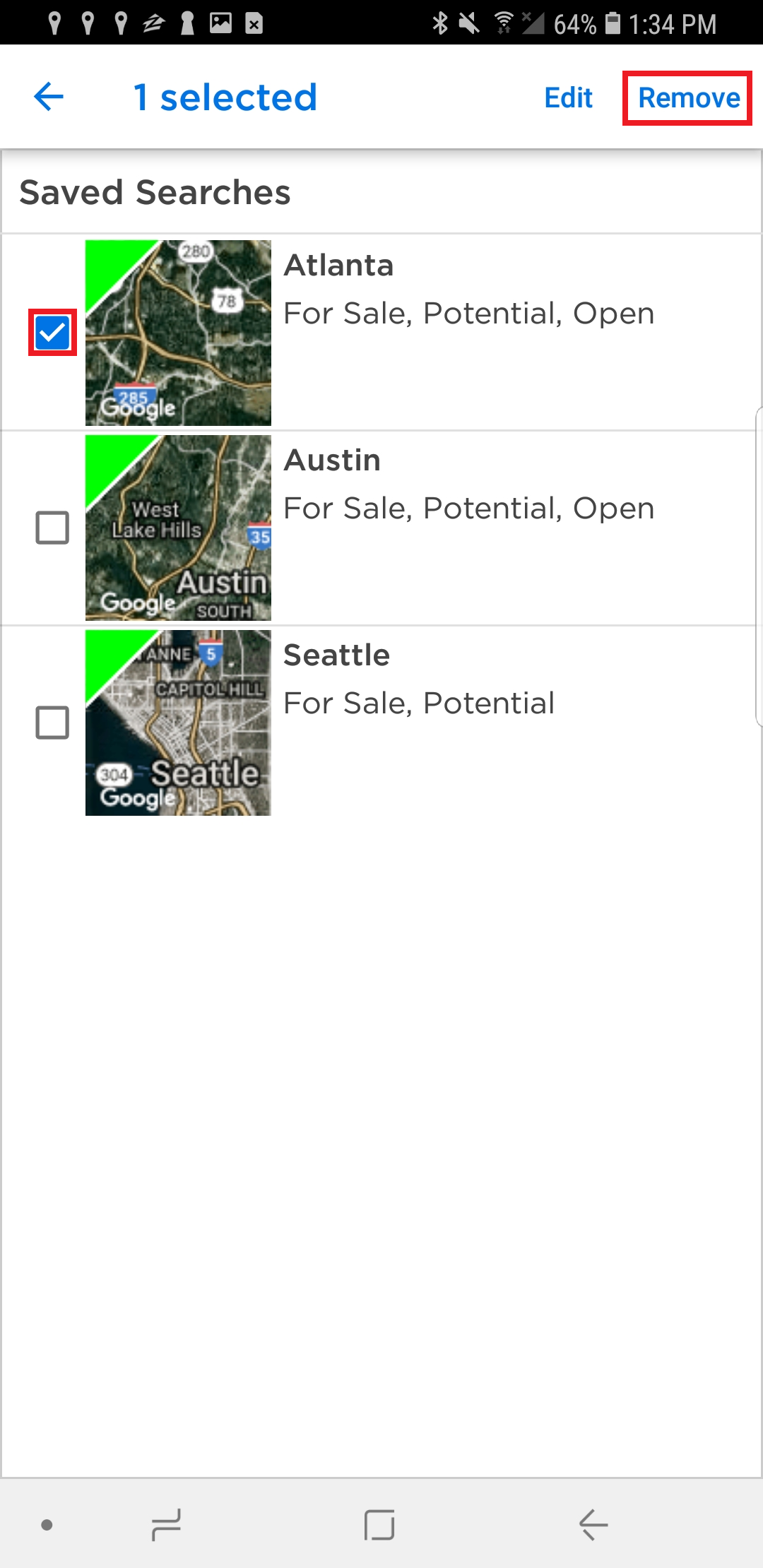Deleting Saved Searches Zillow Help Center