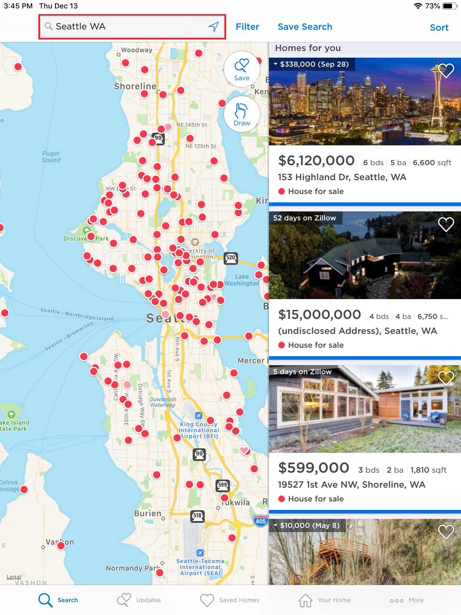 How do I search for homes on the Zillow mobile app? – Zillow Help Center