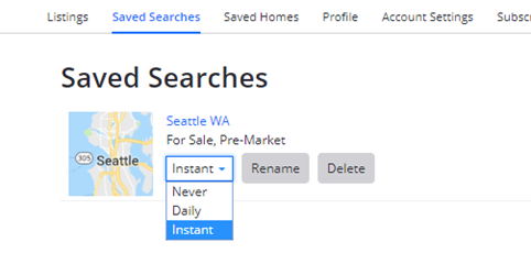 How Do I Delete Or Edit A Saved Search Zillow Help Center