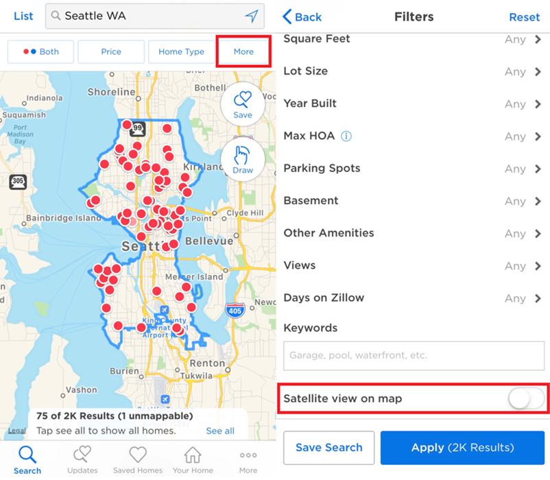 How do I change the map style? – Zillow Help Center Zillows Maps on