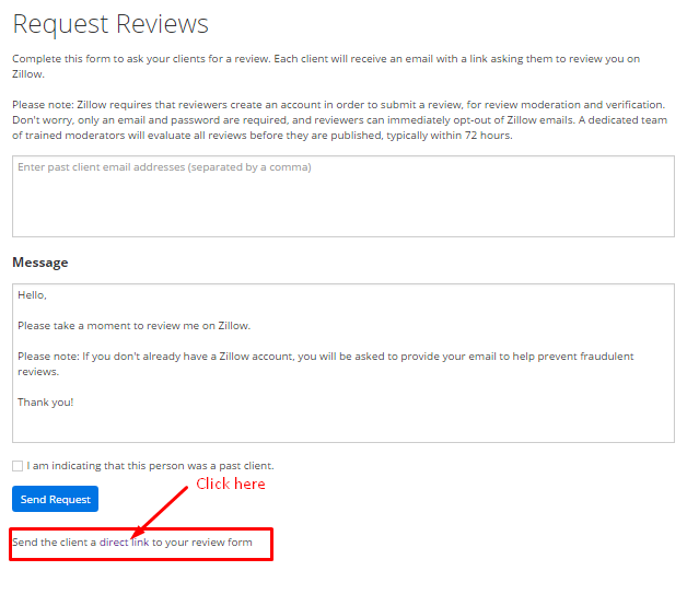 Send A Client A Direct Link To Your Review Form. Cut And Paste The URL That  Goes Directly To A Review For You. You Will Need To Send This Link From  Your Own ...